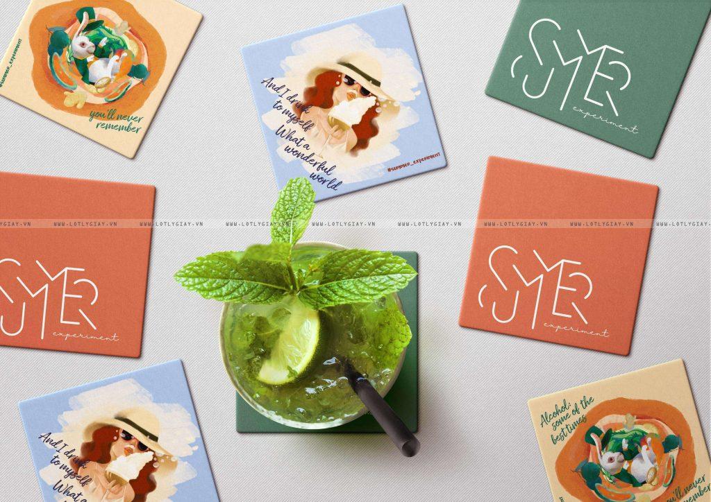 Những chiếc đế lót ly giấy được đặt riêng theo yêu cầu | Summer Experiment coaster